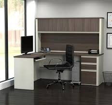 White L Shaped Desk With Hutch Computer Desks With Hutch From Computerdesk Com
