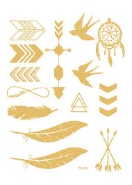 vt360 2015 metallic temporary tattoos foil gold flash