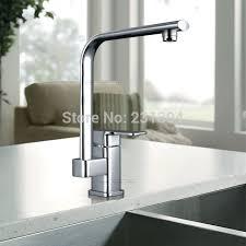 plomberie robinet cuisine laiton pivotant évier de cuisine mitigeur chromé carré plomberie