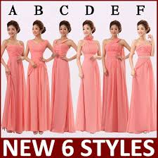 wedding dresses for of honor 6 style watermelon bridesmaids bridal team of honor dresses