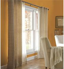Orange And Beige Curtains Thermalogic Check Curtains 84