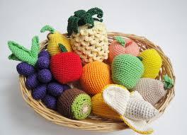 Toy Kitchen Set Food Crochet Fruit Set 10pcs Montessori Toys Cornucopia Sensory Toys