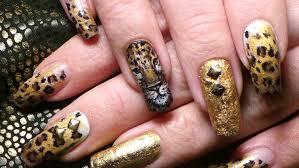 leopard nail art tutorial collab w akameru89 youtube