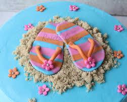summer flip flops beach cake rose bakes