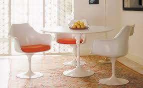 Ottoman Tulip by Saarinen White Tulip Arm Chair Hivemodern Com