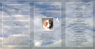 tri fold program 28 images of downloadable tri fold funeral program template