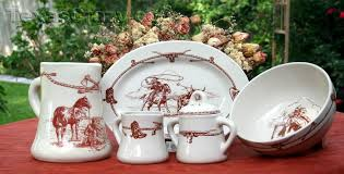 buy sky ranch dinnerware serving set western stoneware dishes
