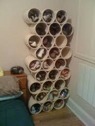 fabriquer chambre rangement chaussures dans une chambre avec du tuyau pvc les