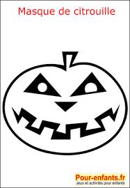 halloween coloriage masque citrouille fabrication masque enfant de