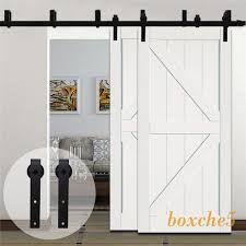 Sliding Bypass Barn Door Hardware by 4 20ft Country Sliding Bypass Double Barn Wood Door Hardware