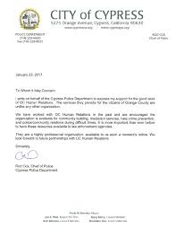 Business Partnership Thank You Letter by Letters From Our Supporters Oc Human Relations