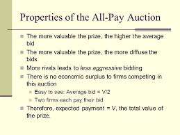 pay to bid auction mixed strategies overview principles of mixed strategy equilibria