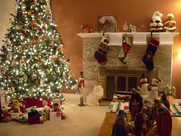 decorated homes for christmas interior design