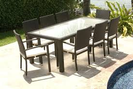 wicker dining table with glass top glass top outdoor dining table kgmcharters com