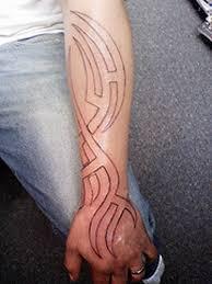 lower arm tribal tattoos for men design idea for men and women