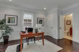 Desk Molding Traditional Home Office With Chair Rail U0026 Wainscoting In Arlington