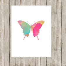 8x10 butterfly printable butterfly art print watercolor