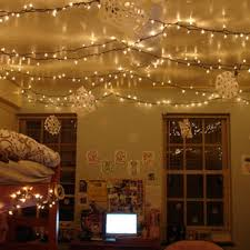 cute ceiling decoration with plug in light ideas for 11 unexpected ways to decorate your dorm with holiday lights dorm