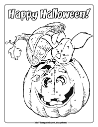 pooh friends halloween 2 free disney halloween coloring pages