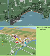 Cannes Map by Nice Airport Map