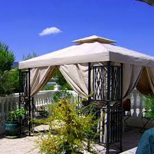 Backyard Canopy Ideas Double Roof Grill Shelter Gazebo 8x5 Outdoor Canopy Bbq Patio Deck
