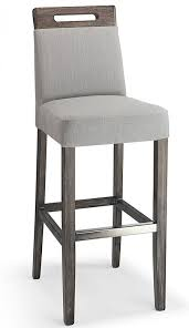 Wooden Breakfast Bar Stool Fabric Padded Seat Kitchen Breakast Bars Stools