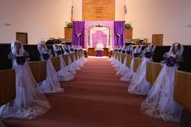 pew decorations for weddings purple wedding decorations chair bows pew bows satin church