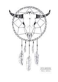 bull skull dreamcatcher sticker 10 00 gypsy dreaming