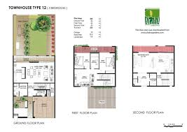 Town House Plans by Floor Plans Al Mariah U2013 Al Raha Gardens