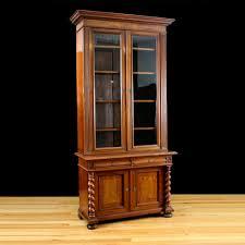 antique bookcase in walnut u0026 burled walnut northern europe c