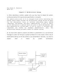 Architectural Design Of A System Software Engineering Chapter 6 Exercises Doc World Wide Web
