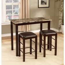 3 piece counter height table set bar pub table sets for less overstock com