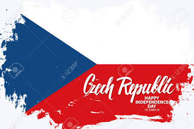 Chez Republic Flag Czech Republic Happy Independence Day October 28 Greeting Banner
