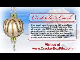 Cinderella S Coach Christmas Ornament Kit From The Cracker Box Cinderella U0027s Coach