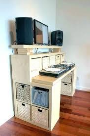 Easy Diy Desk Diy Desk With Storage Standing Desk With Storage Standing Desk