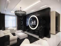 Best Living SpacesBlack  White Images On Pinterest Living - Black and white family room