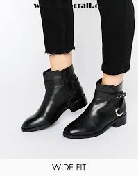 womens boots canada sale black shoes asos arabella wide fit cut out leather boots