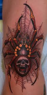 spider skull tattoos