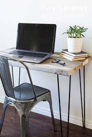 wood plank office desk how to build diy reclaimed with hairpin
