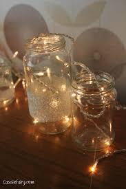 how to make fairy lights diy festive fairies in snow covered kilner jars