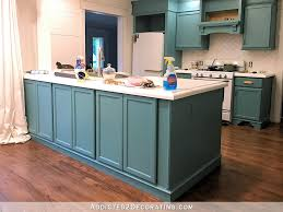 peninsula kitchen cabinets my freshly painted teal kitchen cabinets