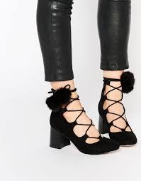 ugg boots sale asos lace up and pom detail amazing http asos do thrmkw heels