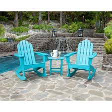 3 piece table and chair set hanover 3 piece adirondack rocking chair set with 2 adirondack