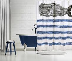 Beachy Shower Curtains Whale Shower Curtain Hooks Hum Home Review