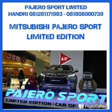 pajero sport mitsubishi pos pengumben pajero sport dakar limited edition dealer mitsubishi