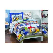 toddler bed sheet blue boys cars tractors trucks childrens twin