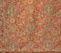 Velvet Chenille Upholstery Fabric Vintage Persian Rug Fabric Orange Blue Chenille Velvet Upholstery