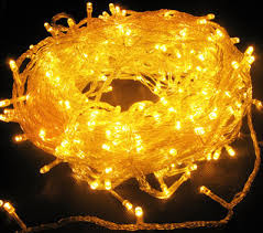 yellow 144 superbright led string lights multifunction clear cable