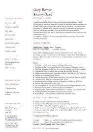 Security Guard Job Resume by 28 Cv Template For Security Guard Security Guard Resumes 10