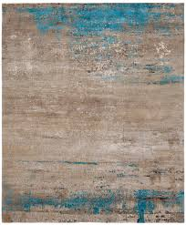Luke Irwin Rugs by Artwork 19 Blue Hand Knotted In Wool Silk Nettle Jan Kath